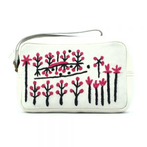 Women's Leather Emb Toiletry Bag-RFL637