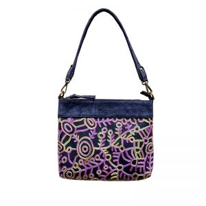 Embroidered Handbag Leather-THU607