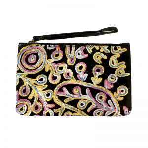 Velvet Clutch with Wrist Strap-THU607