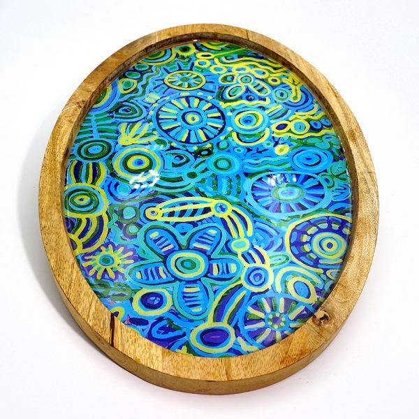 Oval Platter, Wood Resin 37 x 26cm-CVA748