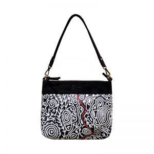 Embroidered Handbag Leather-CVA761