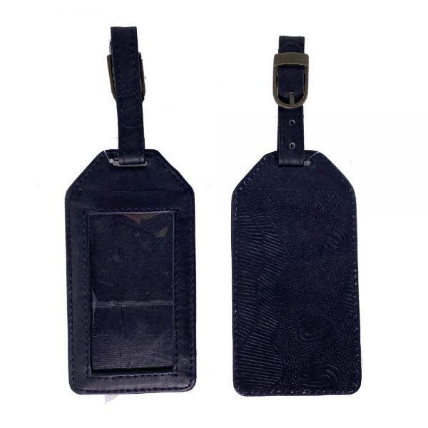 Leather Luggage Tag Embossed-DYB922