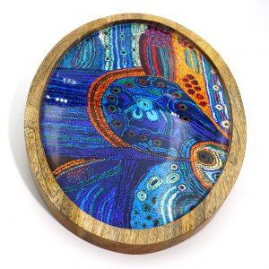 Oval Platter, Wood Resin 37 x 26cm-JWO826