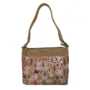 Embroidered Handbag Leather- 30x24cm-BMO419
