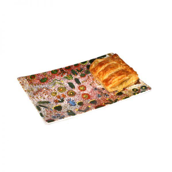 Bone China Cake Plate 17.5 x 12cm-JMO420