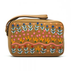 Women's Leather Emb Toiletry Bag-ROR416
