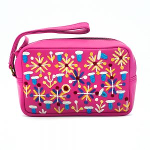 Women's Leather Emb Toiletry Bag-ROR417