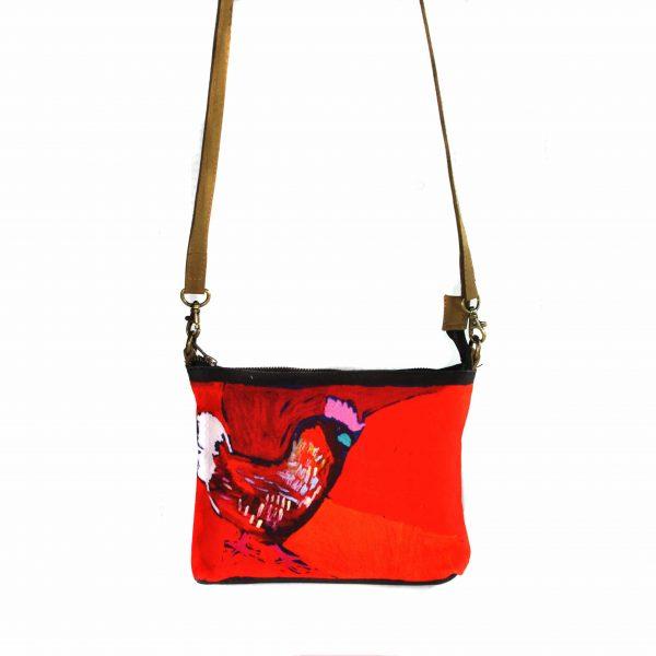 Cross Body Bag- Leather Trimmed-KBA654