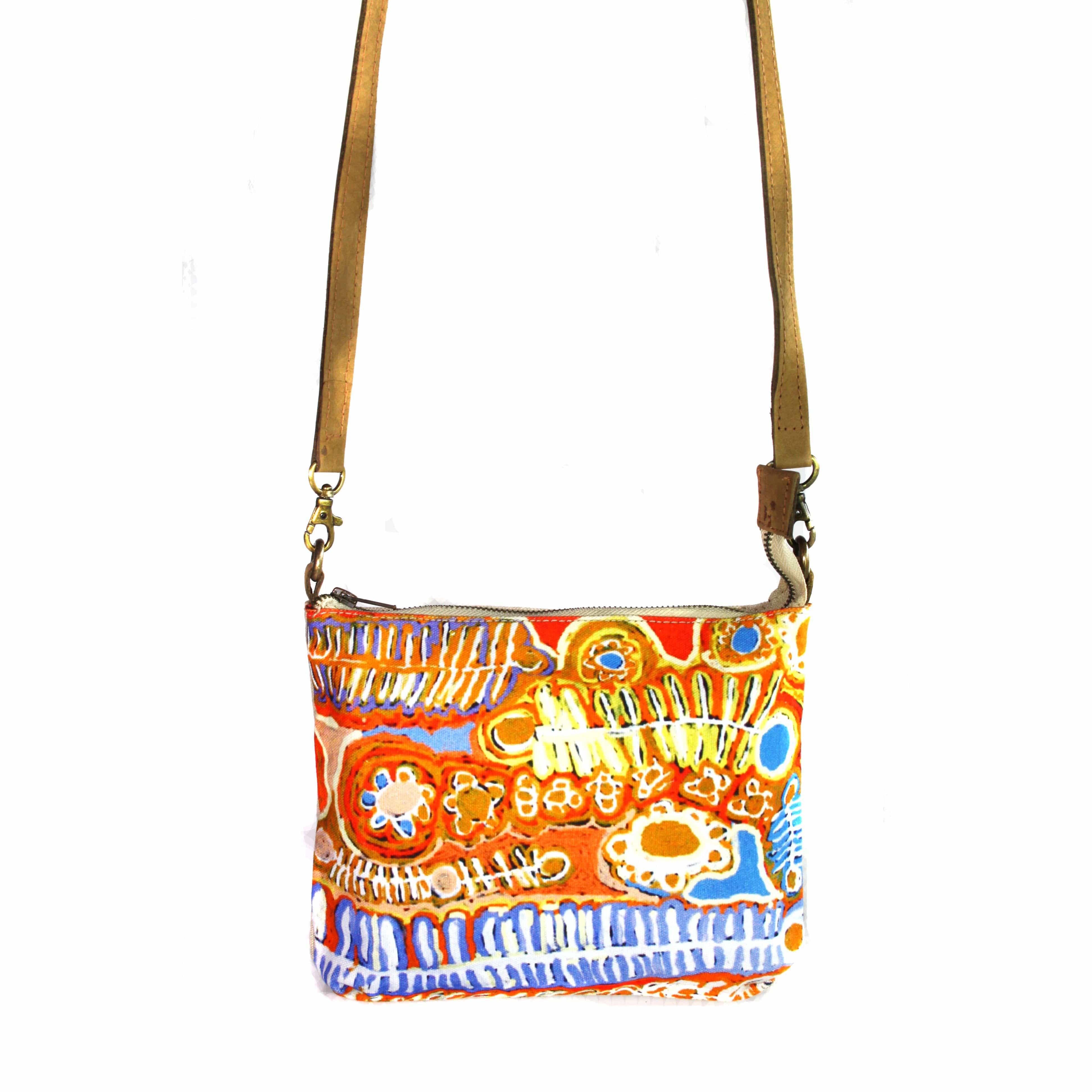 Cross Body Bag- Leather Trimmed-MNM652 – Better World Arts 4f4d51643510e