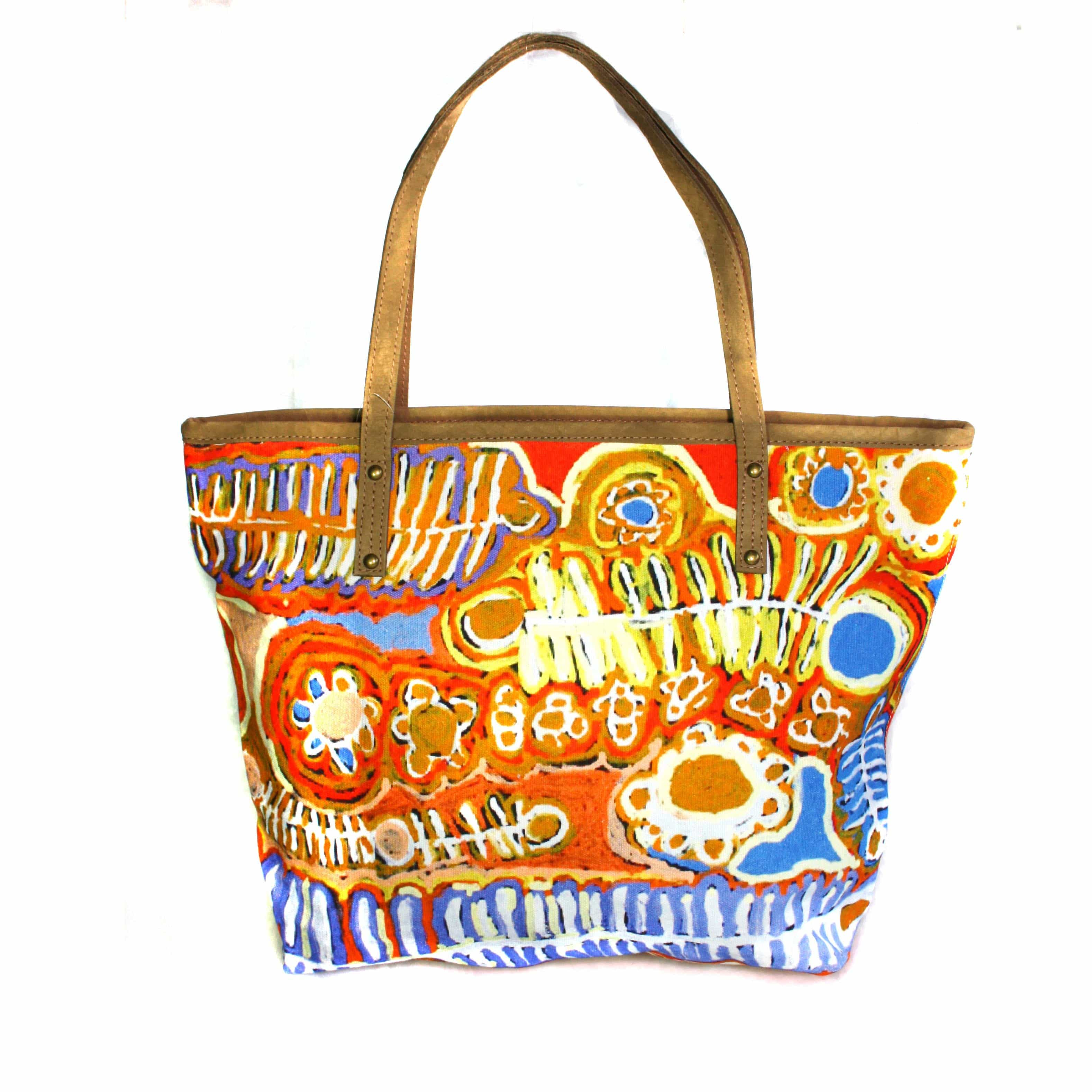 Tote Bag Leather Trimmed-MNM652 – Better World Arts efda2e252b002