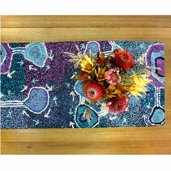 Cotton table runner no border pna648 better world arts for Table no border
