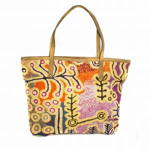 Tote Bag Leather Trimmed-PST604