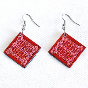 Jewellery Ceramic Earrings-SRO632