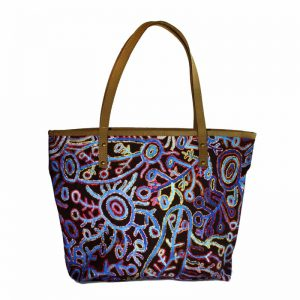 Tote Bag Leather Trimmed-THU607