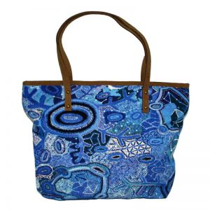 Tote Bag Leather Trimmed-THU608
