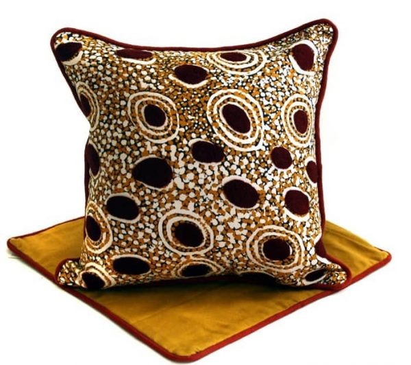 Cushion -Hand Printed & Embroider 16in (41cm)-ATJ713