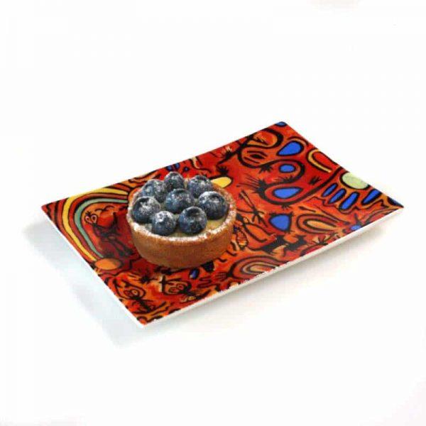Bone China Cake Plate 17.5 x 12cm-CVA750