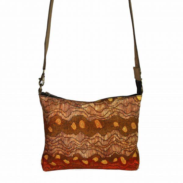 Cross Body Bag- Leather Trimmed-DYM922