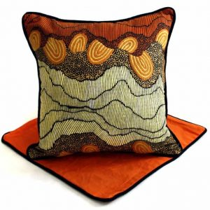 Cushion -Hand Printed & Embroider 16in (41cm)-DYM922