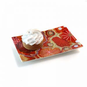 Bone China Cake Plate 17.5 x 12cm-DYM923