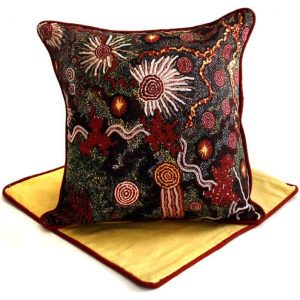 Cushion -Hand Printed & Embroider 16in (41cm)-DYM931