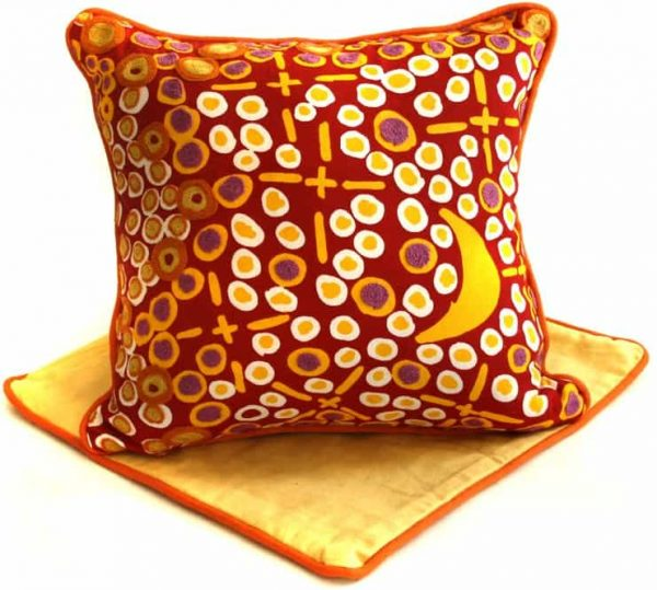 Cushion -Hand Printed & Embroider 16in (41cm)-MKG995
