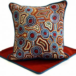 Cushion -Hand Printed & Embroider 16in (41cm)-RSA716