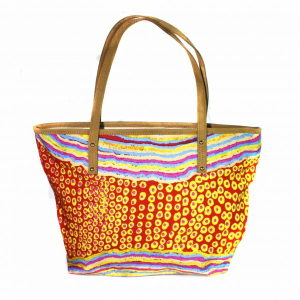 Tote Bag Leather Trimmed-RSA763