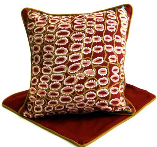 Cushion -Hand Printed & Embroider 16in (41cm)-RSA985