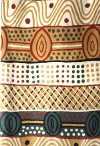 Rug Wool Runner 10 x 2.6 in-JPA145