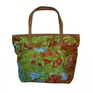 Tote Bag Leather Trimmed-PMU329