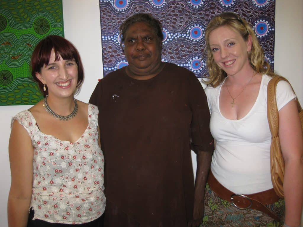 Jess, Karen Kulyuru and Olivia at Opening 2009